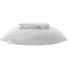 White Cotton-Blend Standard Pillow Protector
