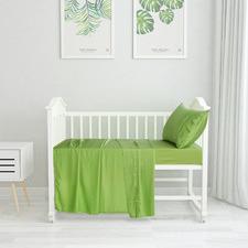 Solid Bamboo Standard Cot Sheet Set
