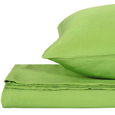 Green Solid Bamboo Quilt Cover Set