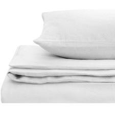 White European Flax Linen Quilt Cover Set