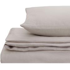 Light Grey European Flax Linen Quilt Cover Set