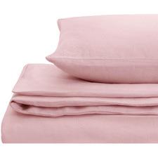 Pink European Flax Linen Quilt Cover Set