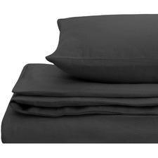 Charcoal European Flax Linen Quilt Cover Set