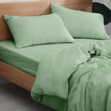 Sage European Flax Linen Quilt Cover Set