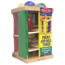 MELISSA & DOUG Classic Wooden Pound and Roll Tower