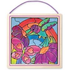 Melissa & Doug Peel & Press Stained Glass: Rainbow Garden