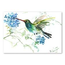 Hummingbird With Flowers Wall Art