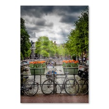 Amsterdam Gentlemen Canal Bicycles Print