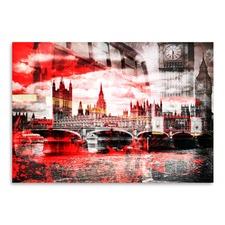City Art London Red Bus Print
