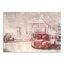 City Art London Red Buses Print