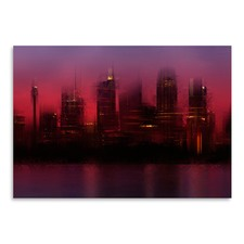 City Art Sydney Skyline At Sunset Print