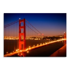 Evening Cityscape Of Golden Gate Bridge Print
