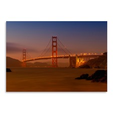 Golden Gate Bridge At Sunset Print