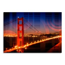 Golden Gate Bridge Geometric Mix No.1 Print