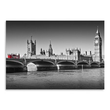 London Red Bus On Westminster Bridge Print