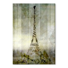 Paris Eiffel Tower Geometric Mix No.1 Print