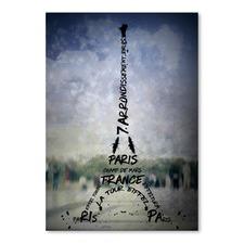 Paris Art Eiffel Tower No.1 Print