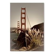 Vintage Style Golden Gate Bridge Print