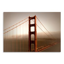 Vintage Style Golden Gate Bridge & Fog Print