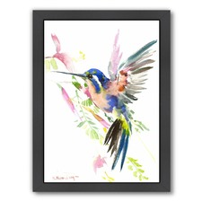 Flying Hummingbird Print