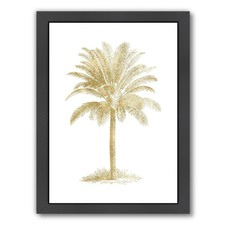 Gold & White Palm Tree Print