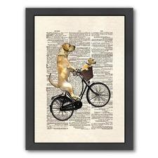 Labrador Bike Print