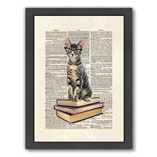 Book Cat Print