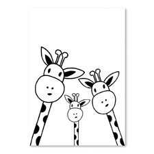 Giraffe Printed Wall Art
