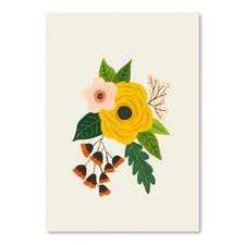 Folk Art Flowers No 3 Printed Wall Art