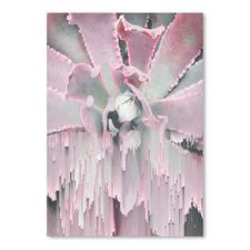 Succulent Glitches Printed Wall Art