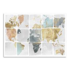 Tiled Map Printed Wall Art