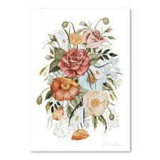 Roses & Poppies Printed Wall Art