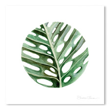 Circular Monstera Leaf Printed Wall Art