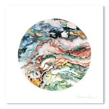 Colourful Geode Printed Wall Art