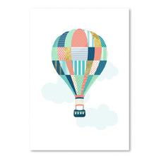 Textured Balloon Printed Wall Art