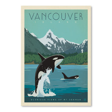 Vancouver Island Orcas Printed Wall Art