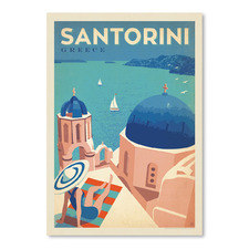 Santorini Greece Printed Wall Art