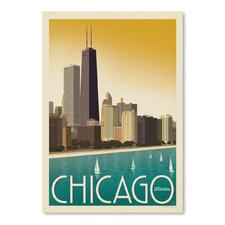 Chicago Modern Skyline Printed Wall Art