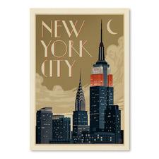 NYC Deco Skyline Printed Wall Art