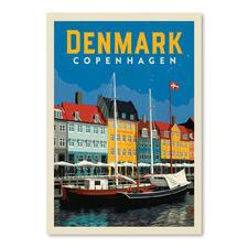 Copenhagen Denmark Printed Wall Art