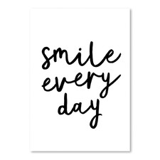 Smile Every Day Printed Wall Art