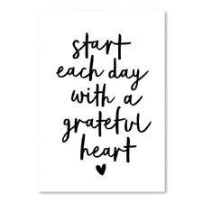 A Grateful Heart Printed Wall Art