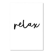 Relax Printed Wall Art