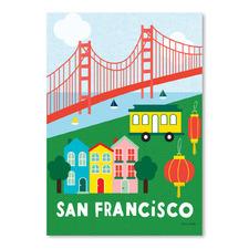 City Fun San Francisco Printed Wall Art