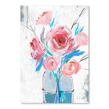 Blue Vase I Printed Wall Art