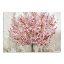 Rosy Leaves Printed Wall Art