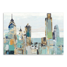 Teal City I Printed Wall Art