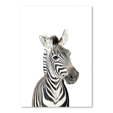 Little Zebra Printed Wall Art