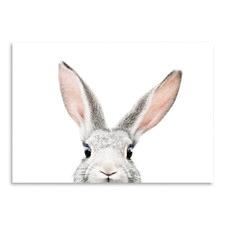 Peekaboo Bunny Printed Wall Art