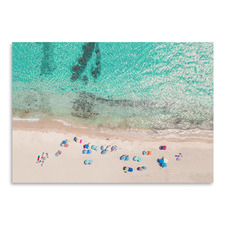 People On The Beach Printed Wall Art